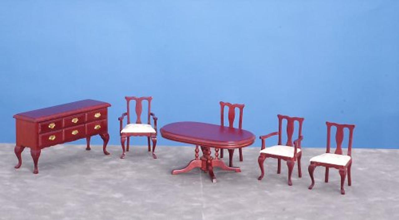 6 pieces Dining Room - Mahogany
