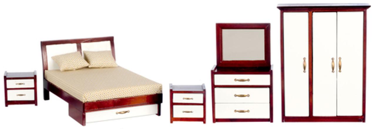Modern Bedroom Set - Mahogany
