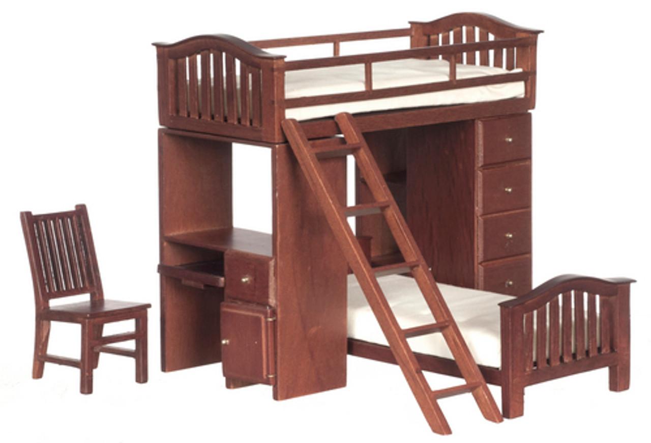 Bunk Bed Set - Walnut