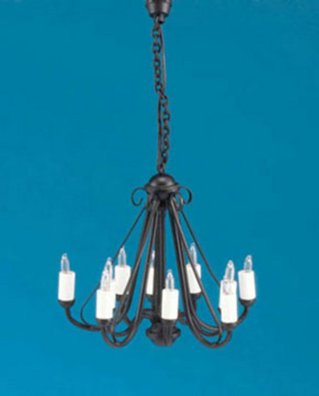 Wrought Iron Chandelier - Black
