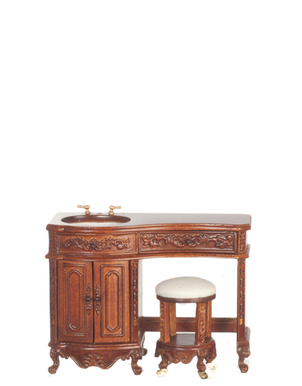 Avalon Sink with Stool - Walnut
