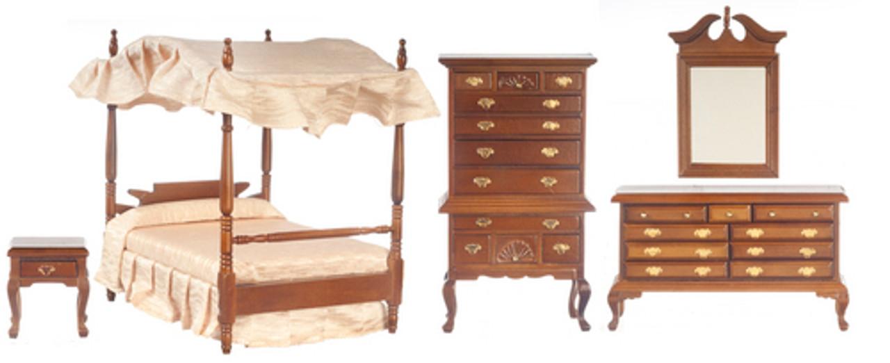 Canopy Bedroom Set - Walnut