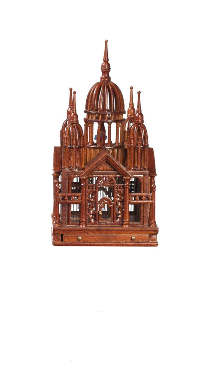 Victorian Birdcage - Walnut