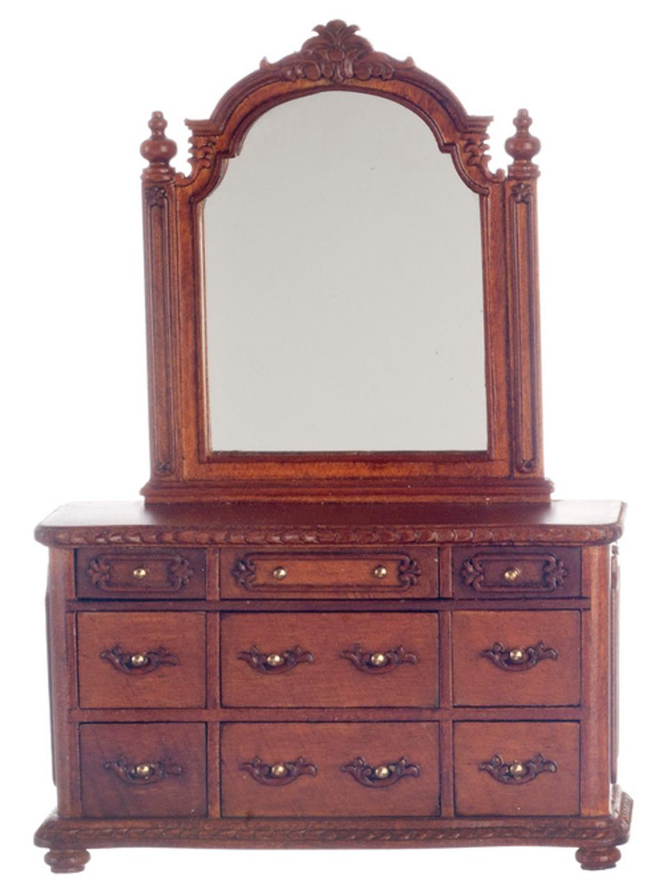 York Dressing Table with Mirror - Walnut
