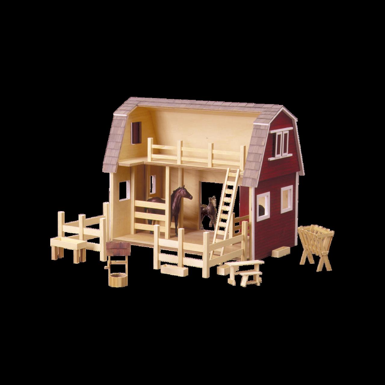Ruff 'n Rustic All American Barn Dollhouse Kit