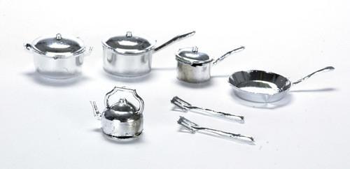 Pot and Pan Set - Silver