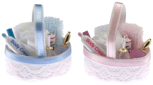 Bath Accessories Basket - Assorted