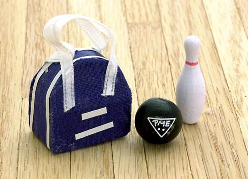 Bowling Ball, Bag and Pin