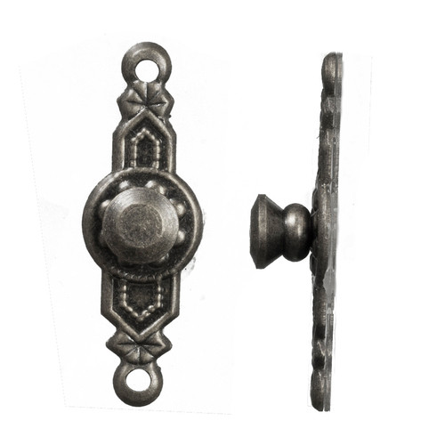 Colonial Door Knobs Set - Pewter