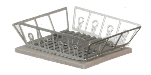 Dish Drainer with Mat - Silver
