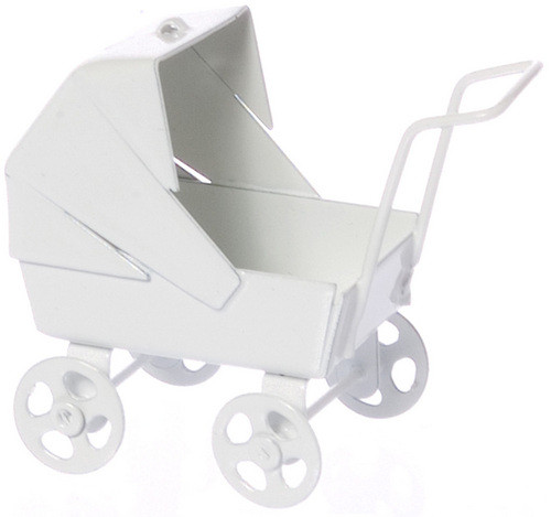 Baby Carriage - Pastel White