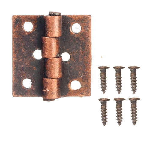 Dollhouse City - Dollhouse Miniatures Butt Hinges with Nails - Bronze
