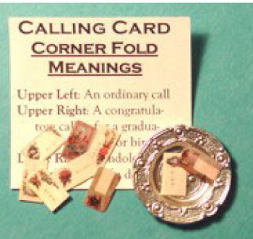 Victorian Calling Card with Silver Holder