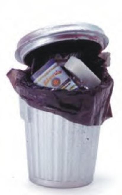 Garbage Pail with Trash