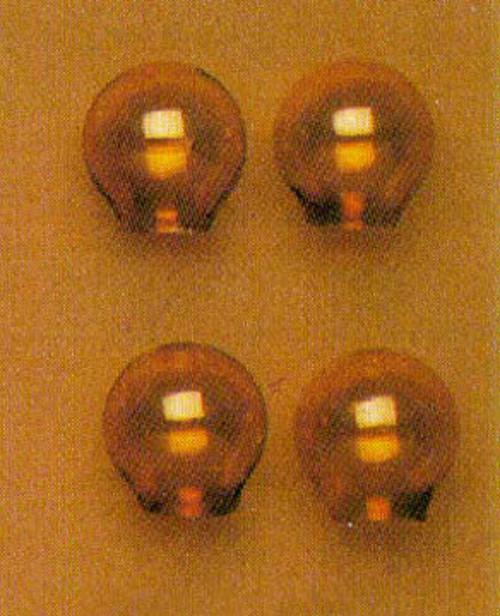 Amber Glass Globes Set