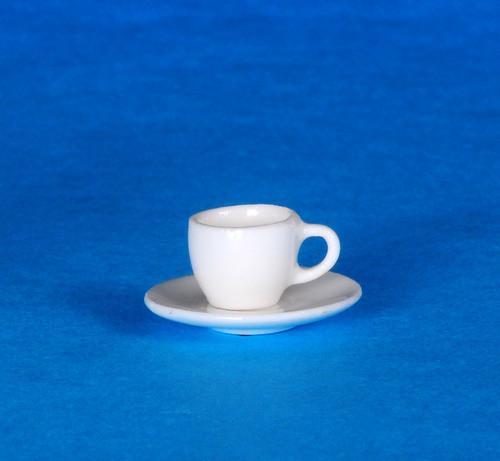 Dollhouse City - Dollhouse Miniatures Cup and Saucer - Porcelain