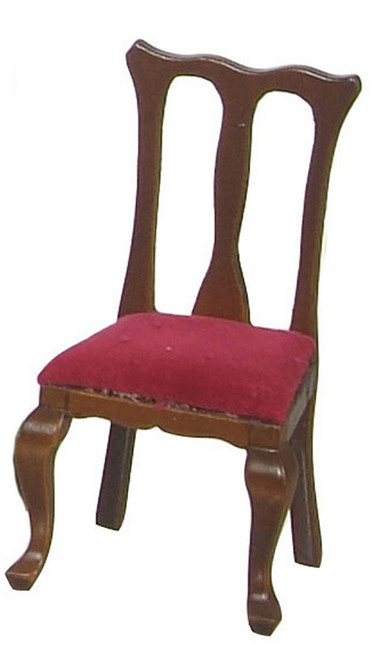 Queen Anne Red Side Chairs - Walnut