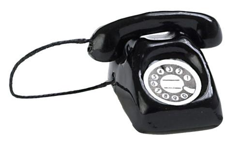 Dollhouse City - Dollhouse Miniatures Modern Phone - Black