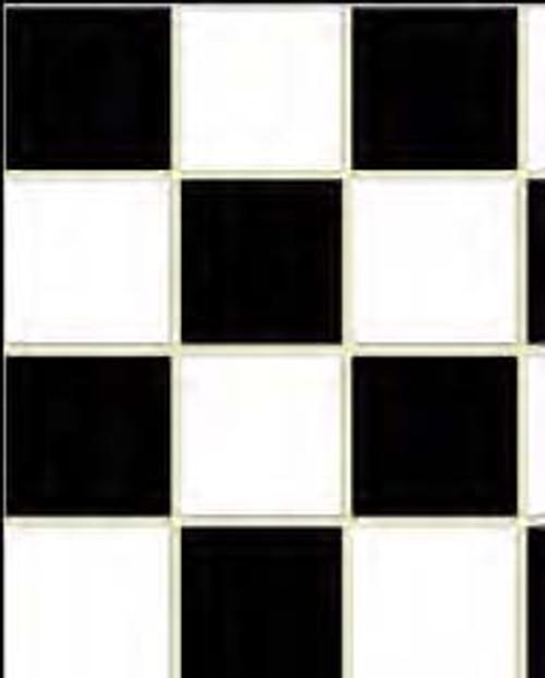 No Wax Flooring - Black and White Check