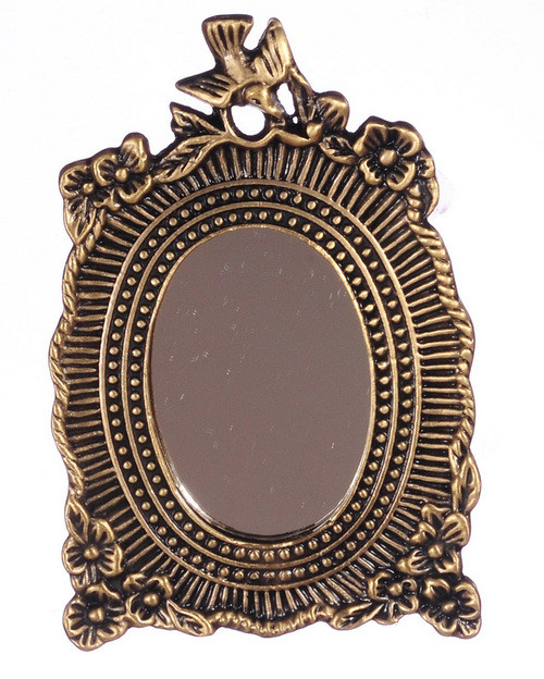 Floral Mirror - Antique and Brass