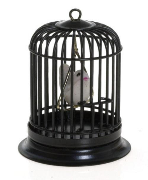 Birdcage with Bird - Black