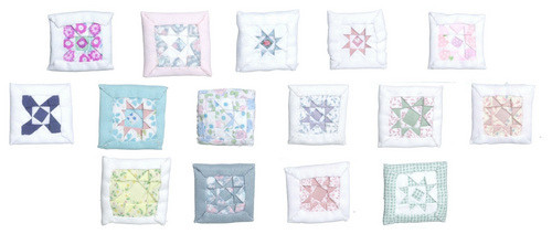 Dollhouse City - Dollhouse Miniatures Pillows - Assorted Colors