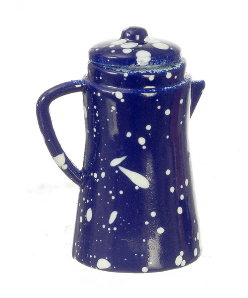Coffee Pot - Blue Spatter