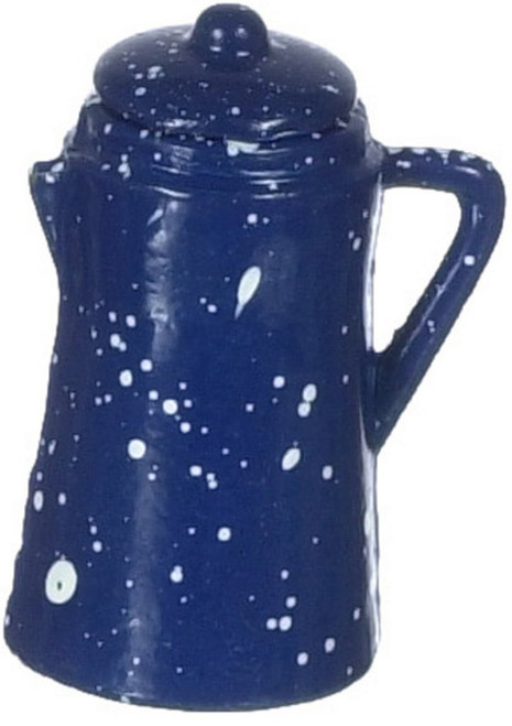 Coffee Pot - Blue Spatterware
