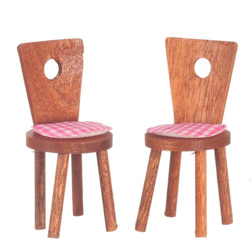 2 Cute Chairs - Walnut