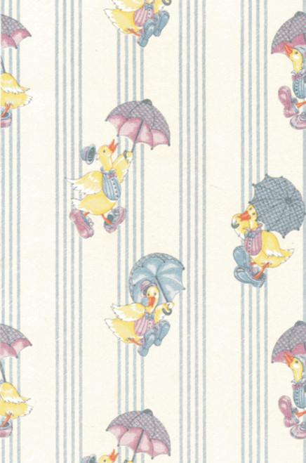 Wallpaper Raining Ducks Set - White