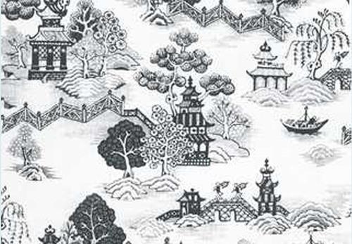 Wallpaper China Grove Set - Black