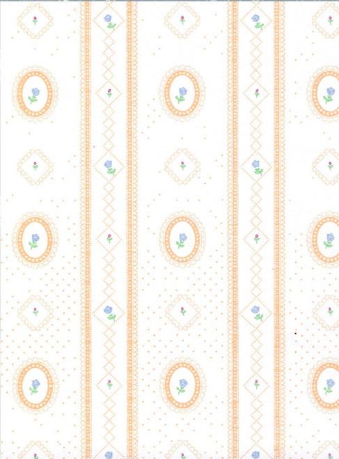 Wallpaper Cameo Stripe Set - Peach
