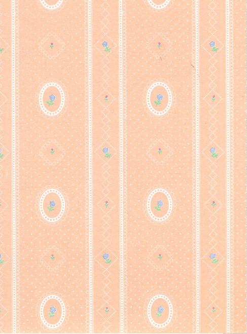 Wallpaper Cameo Stripe Reverse Set - Peach