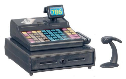 Modern Cash Register with Scanner