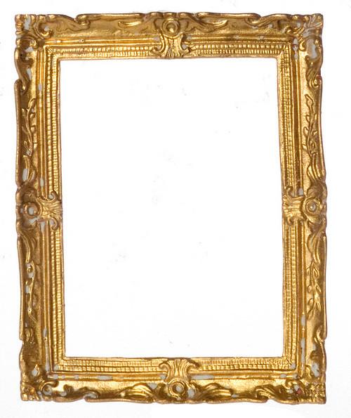 Dollhouse City - Dollhouse Miniatures Frame Antique - Gold Plated