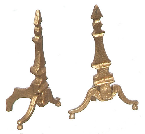Andirons - Brass and Gold