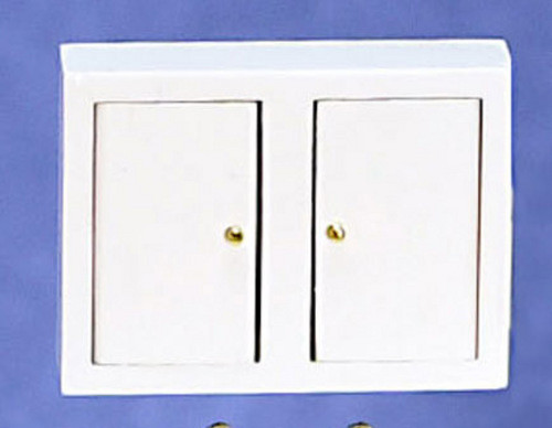 Dollhouse City - Dollhouse Miniatures Kitchen Wall Cabinet - White