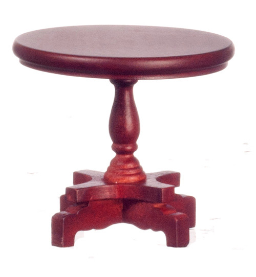 Dollhouse City - Dollhouse Miniatures Victorian Lamp Table - Mahogany