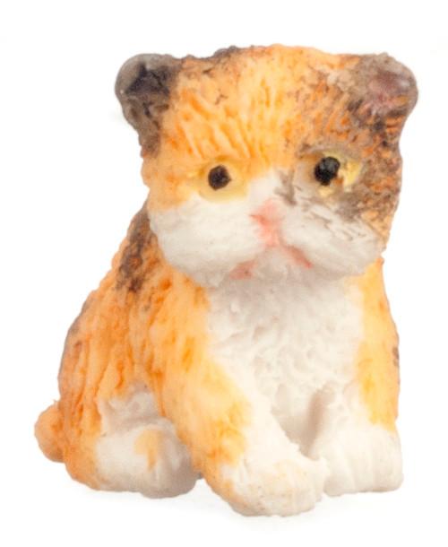 Dollhouse City - Dollhouse Miniatures Persian Kitten - Calico