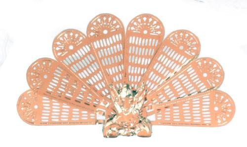 Brass Peacock Fan