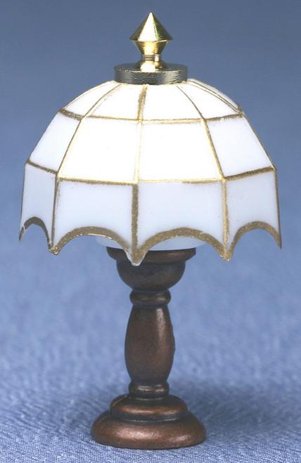 White Tiffany Table Lamp