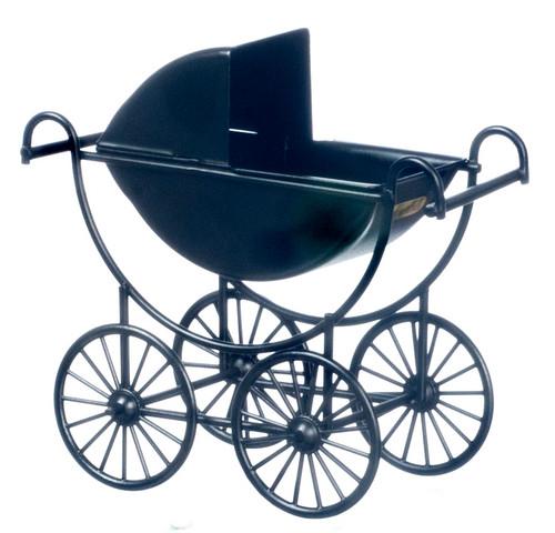 Metal Baby Carriage - Black