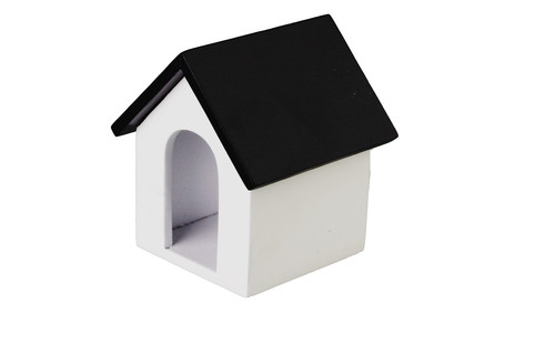 Doghouse - White and Black Roof