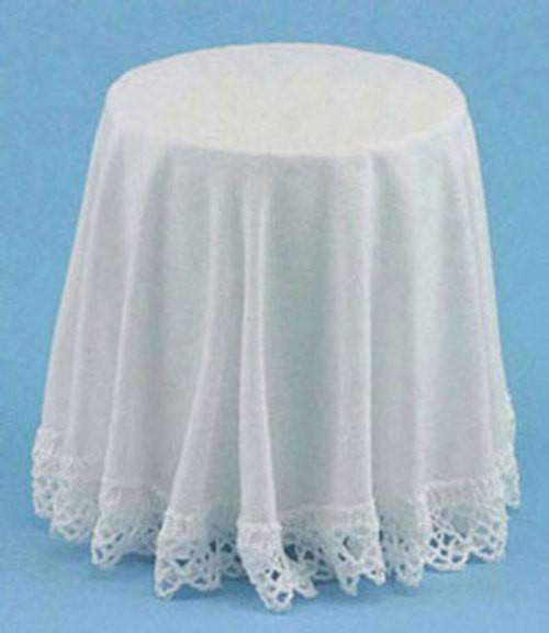 Skirted Table - White