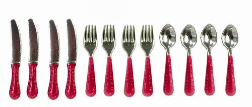 Silverware Set - Red