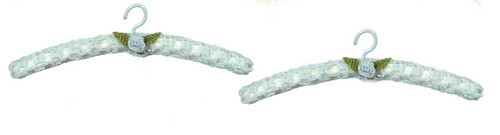 Dollhouse City - Dollhouse Miniatures Lace Hanger - Blue