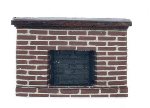 1/2 in Red Brick Fireplace