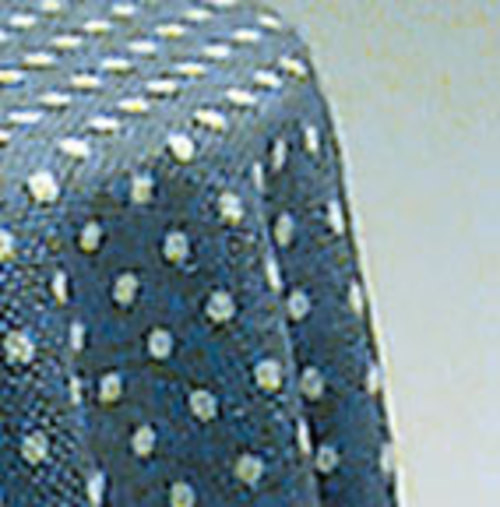 Skirted Table - Blue Mini Dot
