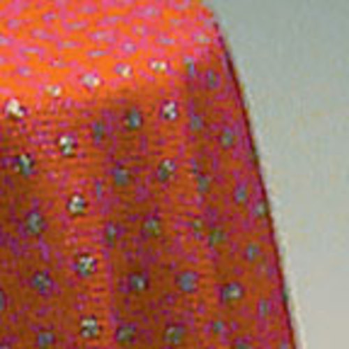 Skirted Table - Red Mini Dot