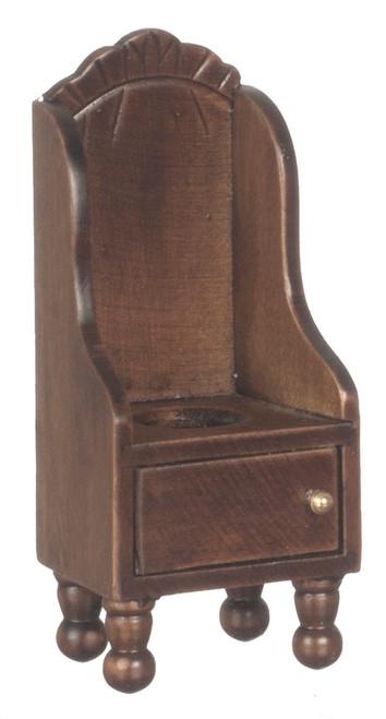 Dollhouse City - Dollhouse Miniatures Victorian Potty Chair - Walnut